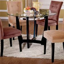 glass top dining room set buy matinee glass top dining table by steve silver from www