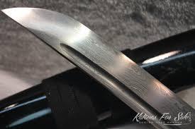 1060 Folded Steel Sword Set With Standard Fittings Katanas For Sale
