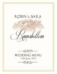 wedding menu templates free wedding menu design photoshop templates nextdayflyers