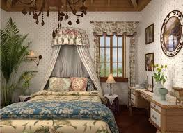 interior exclusive bedroom design country style curtains country