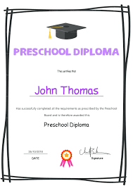 preschool graduation diploma template preschool graduation diploma template inspiration