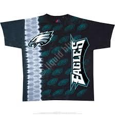 philadelphia eagles home decor nfl philadelphia eagles vertical tie dye t shirt tee liquid blue