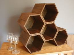ergonomic hexagon wine rack 36 hexagonal terracotta wine rack