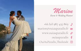 wedding planner business card projet business card oui au paradis samui multimedia