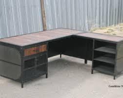 Industrial Office Desks by L Shaped Desk Etsy