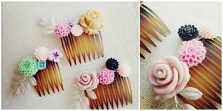 hair comb accessories how to make diy flower combs hair accessories diy tag
