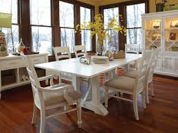 White Dining Room Tables - Round white dining room table set