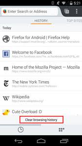how to clear search history on android how to clear history on android