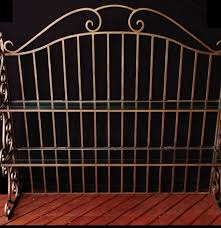 Wrought Iron Bakers Rack With Glass Shelves Wrought Iron Bakers Rack Hutch Top With Bronze Painted Finish Ebth