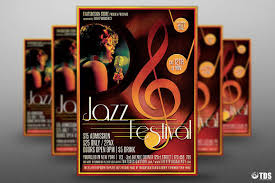 vintage halloween flyer background jazz festival flyer template v4 tds
