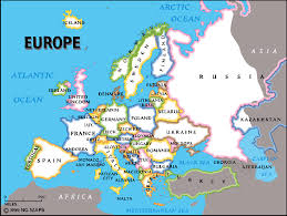 a map of europe with countries highway map europe thefreebiedepot