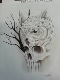 owl tree skull by derhenker13 on deviantart
