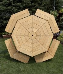 Exteriors Recycled Plastic Picnic Tables Cedar Hexagon Picnic by Exteriors Marvelous Cedar Hexagon Picnic Table Octagon Furniture