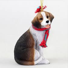 beagle ornament scarf figurine