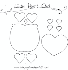 best photos of owl template printable heart pattern valentine