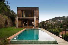noem casas de madera modernas ecologicas high tech y