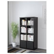 Using 2 Ikea Expedit Bookcases by Kallax Shelf Unit With Doors White 77x147 Cm Ikea