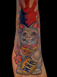 traditional lucky cat tattoo more information