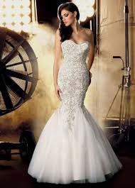 wedding dress mermaid with bling naf dresses