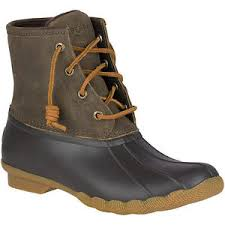 sperry top sider s saltwater brown olive duck boots