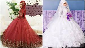 wedding dress muslimah simple muslim wedding dresses design 2017