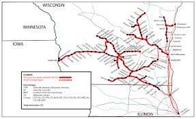 Wisconsin On The Map by Wisconsin U0026 Southern Railroad Wsor Watco Companies