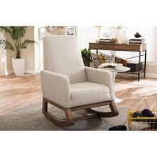 upholstered club chair baxton studio yashiya mid century retro modern light beige fabric