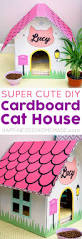 transform that stack of old boxes into a chic cat house that you