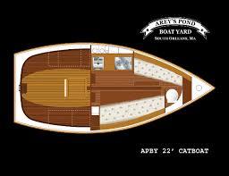 Interior Layout Arey U0027s Pond Boat Yard U2013 22 U2032 Cruising Catboat
