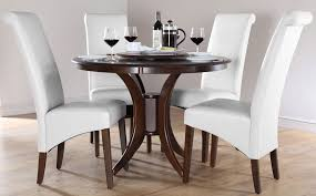 dark brown round kitchen table round dining table sets modern round dining room table dining within