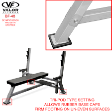 Weight Bench With Spotter Bf 48 Olympic Weight Bench Max Valor Fitness Valor Athletics