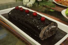 chocolate roulade with strawberry filling recipe by shireen anwar