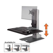 Sit To Stand Desk Winston E Electric Single Monitor Mount Sit Stand Desk Standing Converter Steady Ss Innovative Wnste 1 270 974 Jpg V 1520438523
