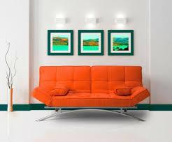 canapé convertible orange le canapé lit design est joli et intelligent archzine fr