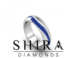 custom mens wedding bands shira diamonds custom mens wedding band blue sapphire mens
