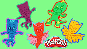 pj masks play doh videos pj masks play doh durprises gekko