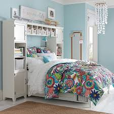 Shelves Over Bed Dream Colorfully Planked Art Pbteen