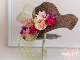 Kentucky Derby Flowers - top it off diy derby hats simply tale