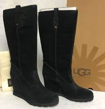 s gissella ugg boots ugg australia s wedge high 3 in and up suede boots ebay