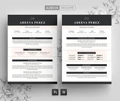 modern resume samples modern resume template perez resume templates creative market