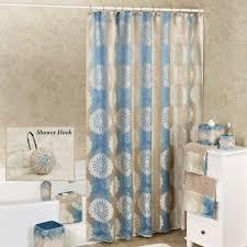 Aqua Blue Shower Curtains Fallon Blue Ombre Medallion Shower Curtain