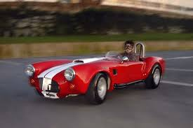kid car sized shelby cobra comes with 7 horsepower and swag for days