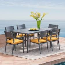 White Patio Dining Table And Chairs White Outdoor Dining Sets For Less Overstock Com