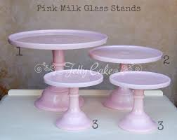 pink cake stand to hire jellycake