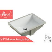 rectangular white porcelain ceramic vanity undermount bathroom