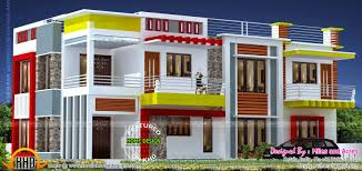 house with floor plan wide flat roof house with floor plan kerala home design and