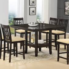 glass counter height table sets dining room counter height square table and chairs with counter