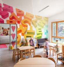 how to decorate a cozy space for children in public places a letter wall mural from pixers