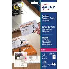 Avery Laser Business Cards Avery Quick And Clean Business Cards Laser 200gsm 10 Per Sheet