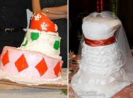 wedding cake disasters would you put up with phallic turrets typos and melting icing on